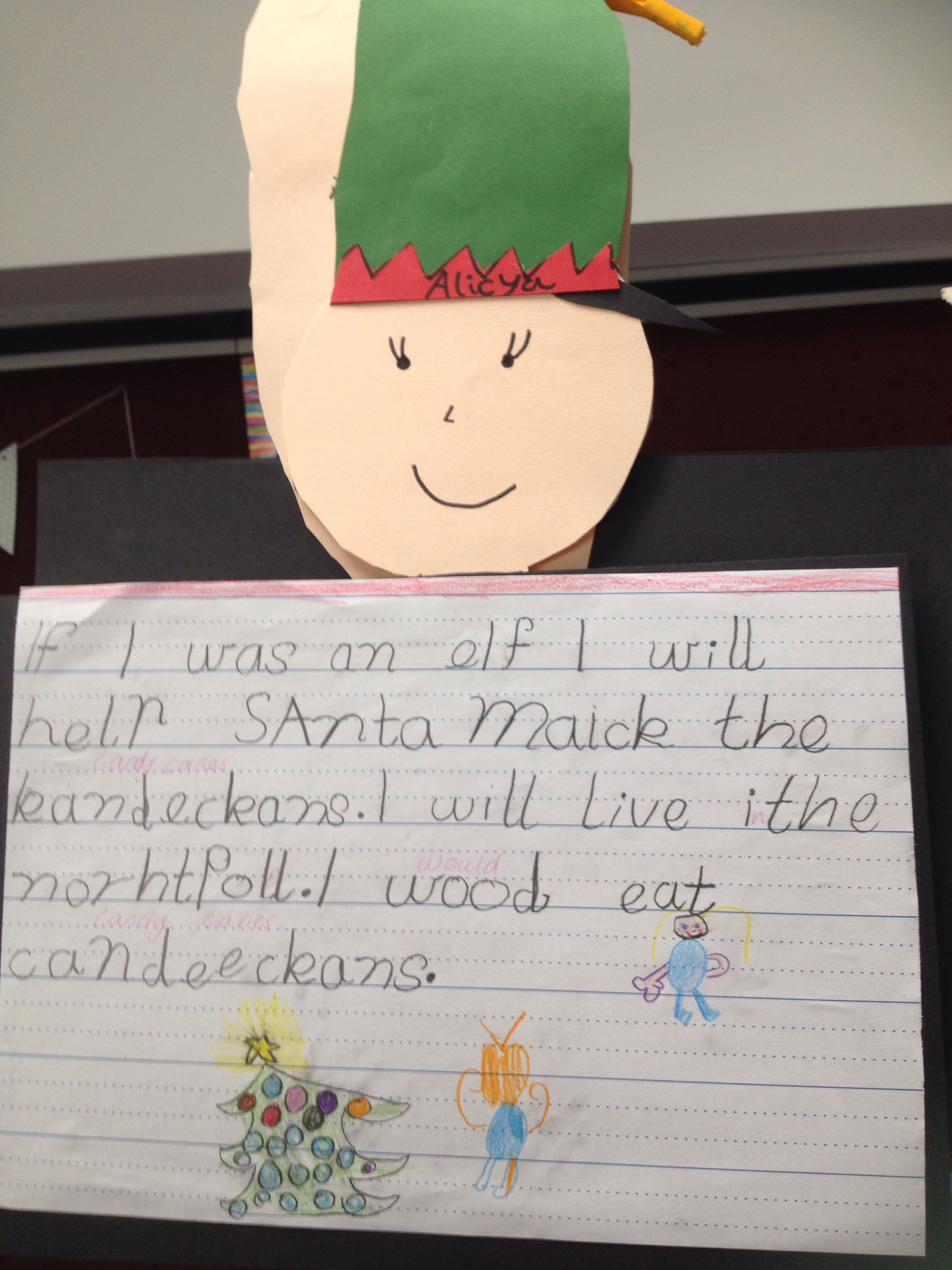 Pre Primary Christmas Writing If I Was An Elf