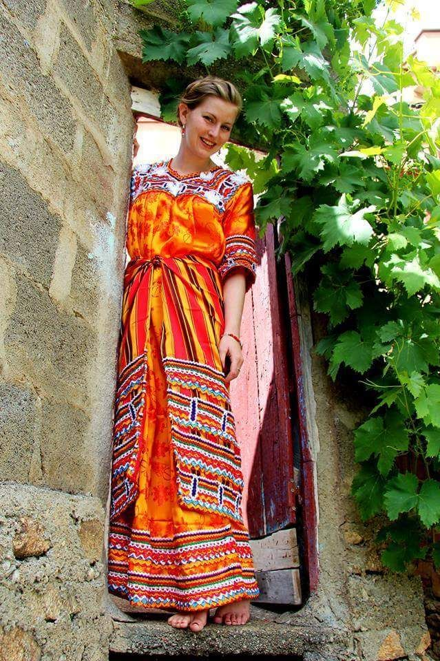 Taqenduret Kabyle Country Algerian Dress From Kabylia Fashion Algerian Clothing Traditional Dresses