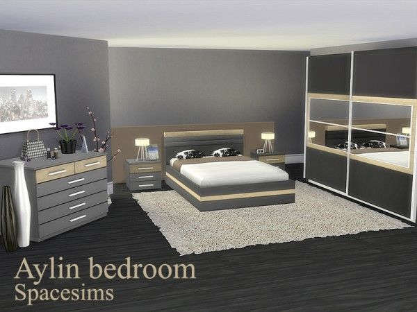 The Sims Resource: Aylin bedroom by spacesims • Sims 4 ...