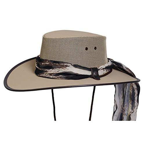 7269bcf478c Men s Clothing Dorfman Pacific Mens Rush Straw Lightweight Outback Hat with Chin  Cord Medium Natural