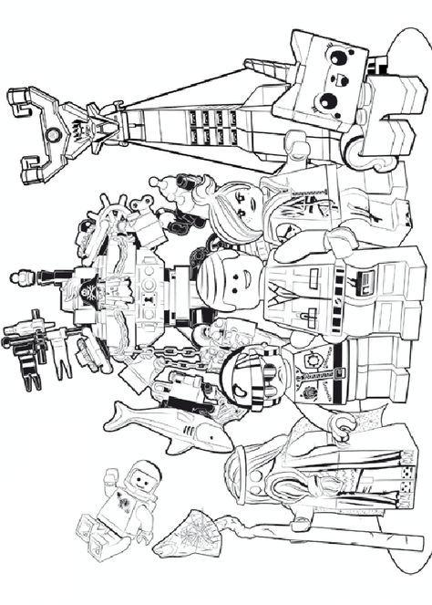 dibujos para imprimir la lego pelicula 1  colorear para