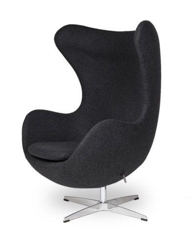 Details Zu Egg Sessel In Dunkelgrau Dark Grey Egg Chair By Arne