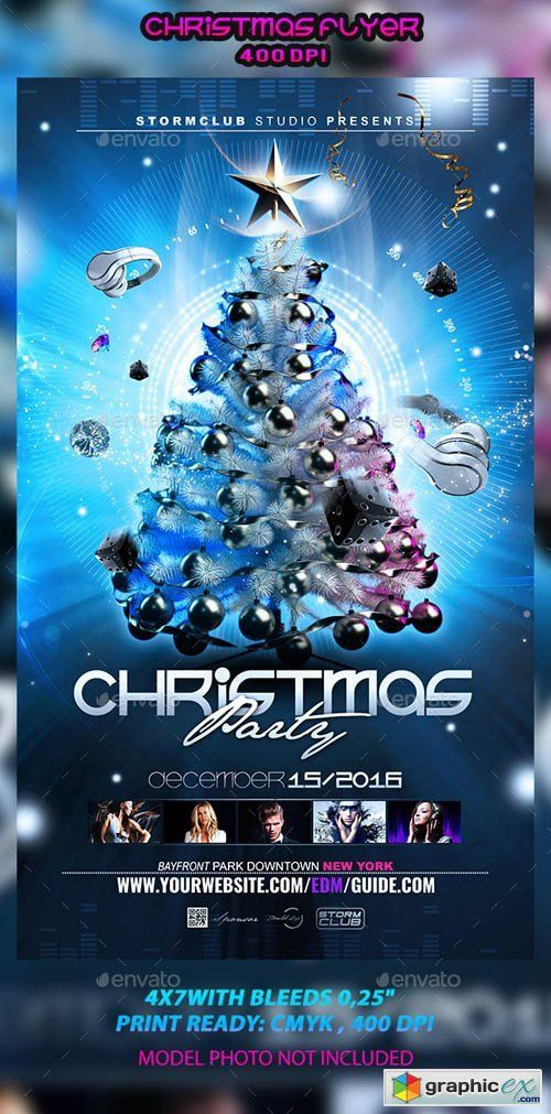 Christmas Flyer Template 12964829 | Diseños | Flyer template
