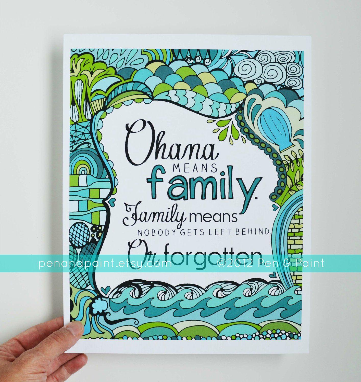 Hawaiian Family Quotes Quotesgram Hawaiian Decor Ohana Hawaiian Art