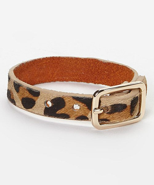 Take a look at the I Love Accessories Tan Leopard Buckle Bracelet on #zulily today! 7.99