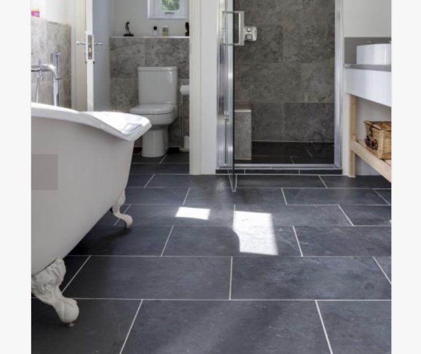 Metropolitan Slate Riven Colour Tones Charcoal Tones Grey Tones Style Contemporary Finish Riven Room Black Slate Tiles Slate Flooring Slate Bathroom Tile Dark slate bathroom floor slate