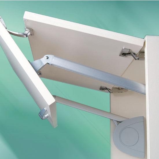 Hafele Lift Up Fitting Senso Soft Silent Closing Matt Chrome Silver Folding Doors Hafele Concealed Hinges