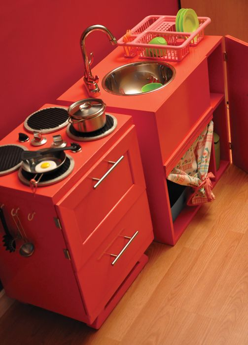 Mini diy kitchen kitchen diy pinterest cuisines enfant cuisine bois enfant et meuble enfant - Mini cuisine enfant ...