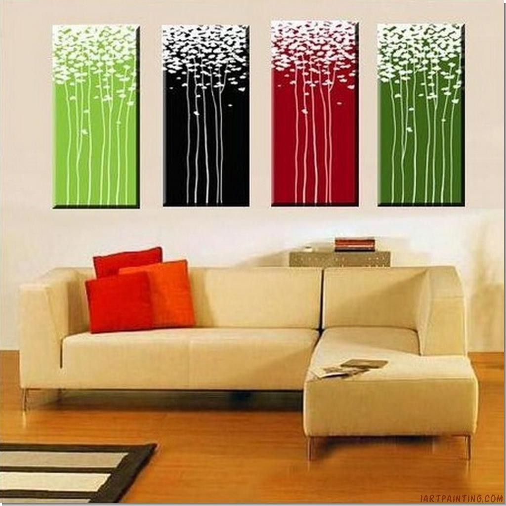 Acrylic abstract painting pieces canvas sets contemporary wall art
