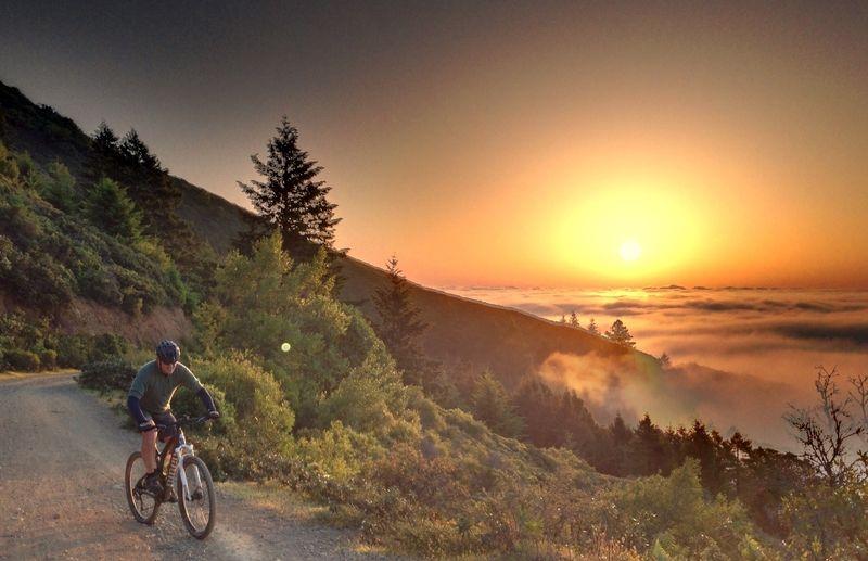 Sunrise On Mt Tam April 2013 Mill Valley Ca Mountain Bike Trails Bike Trails Mountain Biking