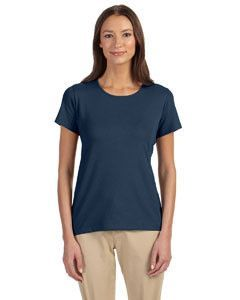 Devon & Jones Ladies' Perfect Fit™ Shell T-Shirt DP182W NAVY