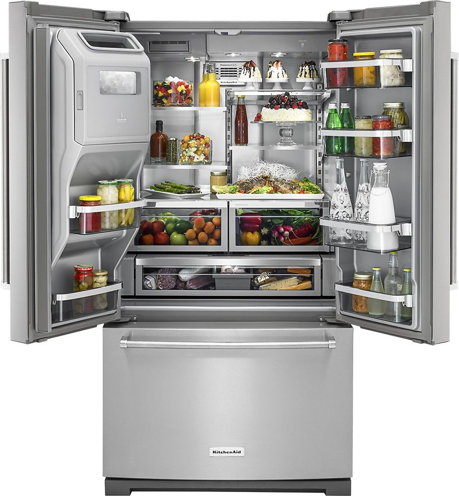 kitchenaid stainless steel refrigerator cleaning