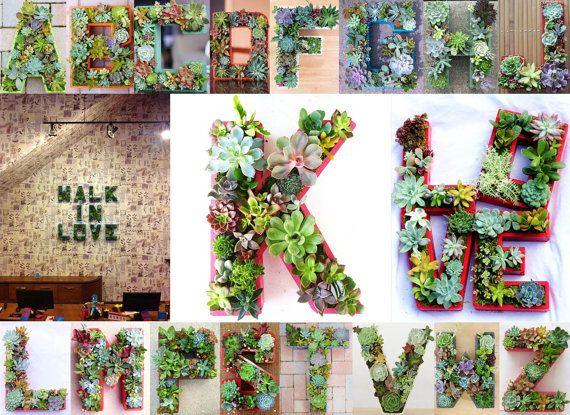 Letter Planter 18 inch DIY Planter Box Initial Monogram for