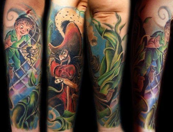 Magical Disney Tattoos Epicgasm Peter Pan Tattoo Tattoos Disney Tattoos