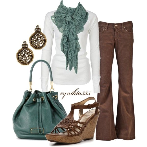 teal and brown...always good