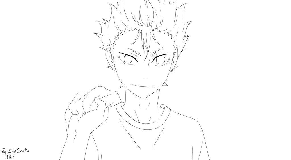 Yuu Nishinoya Haikyuu Lineart By Kiragairi On Deviantart Anime Character Drawing Anime Lineart Anime Drawings Sketches