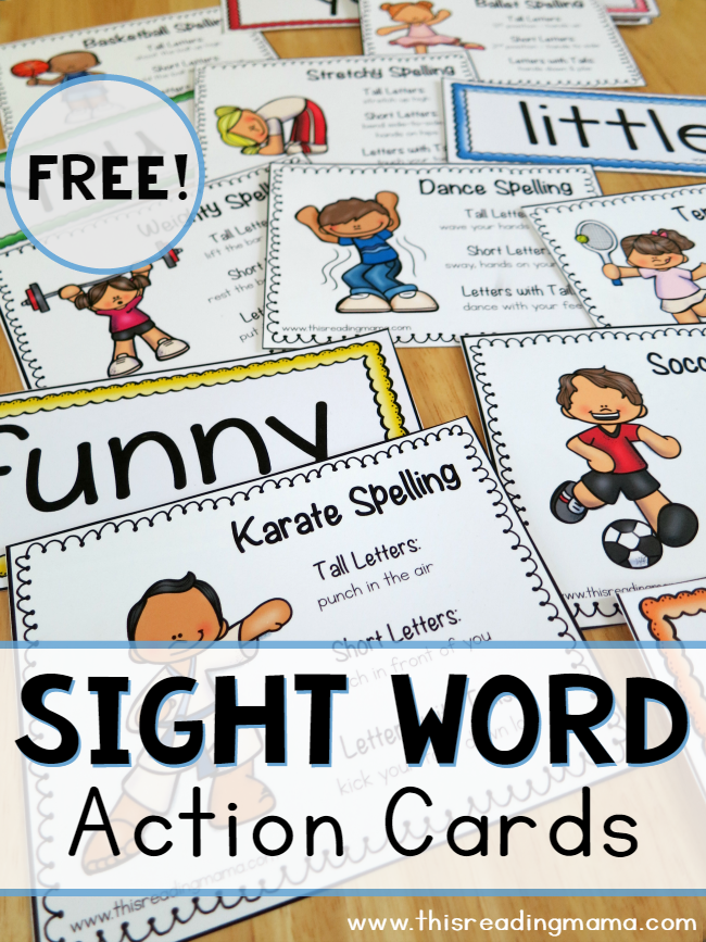 photograph about Printable Sight Word Cards titled Totally free Sight Term Motion Playing cards Free of charge Homeschool Printables