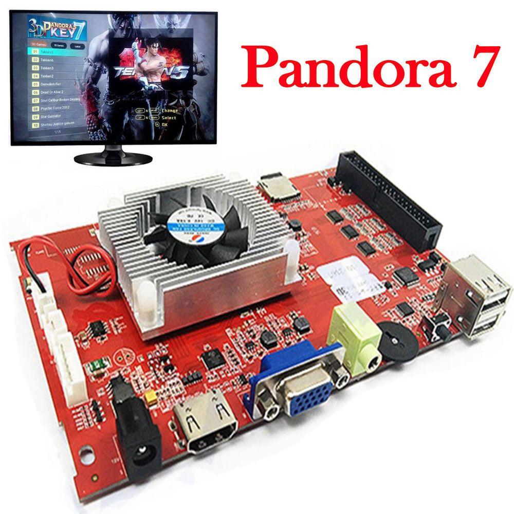 Pandora KEY 7 3D Games Arcade Console 2177 in 1 PCB Motherboard VGA