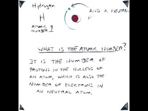 Explanation of the meaning of atomic number  | CC - cycle 3