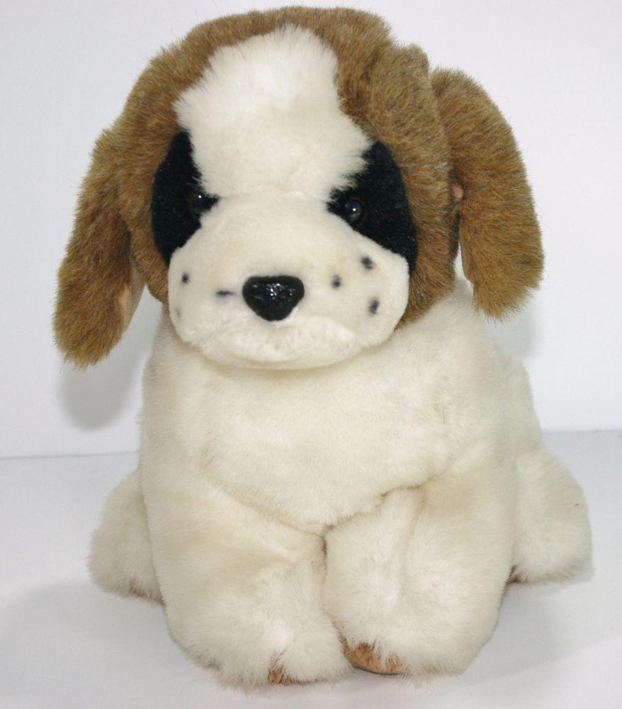 Vintage Etone St Bernard Plush Stuffed Animal 14 1985 Puppy Dog