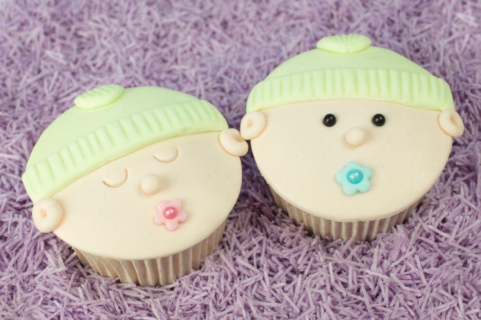 baby cupcakes maken