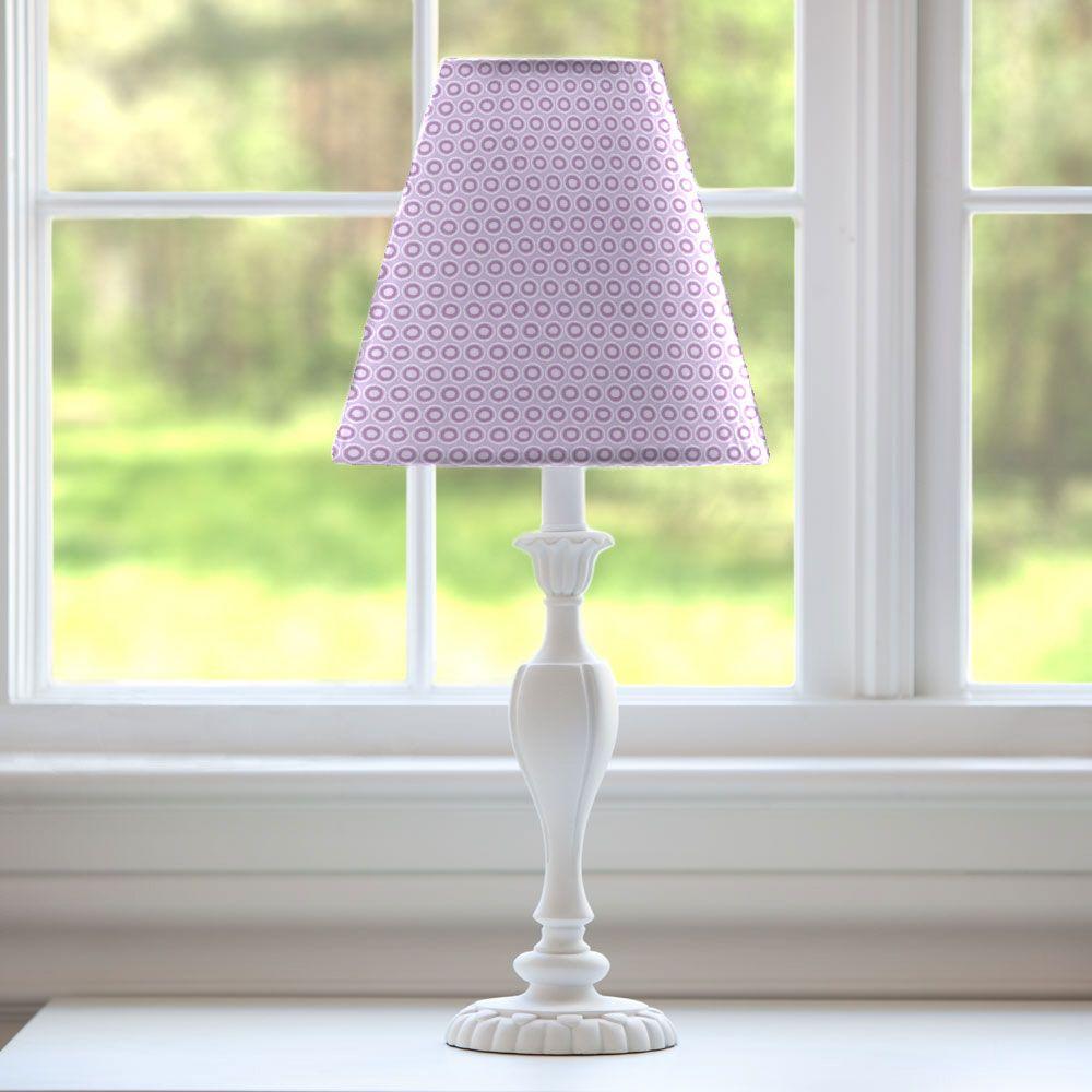 Lamp Shade In Aqua And Amethyst Laval By Carousel Designs Teal Lamp Shade Pink Lamp Shade Purple Lamp