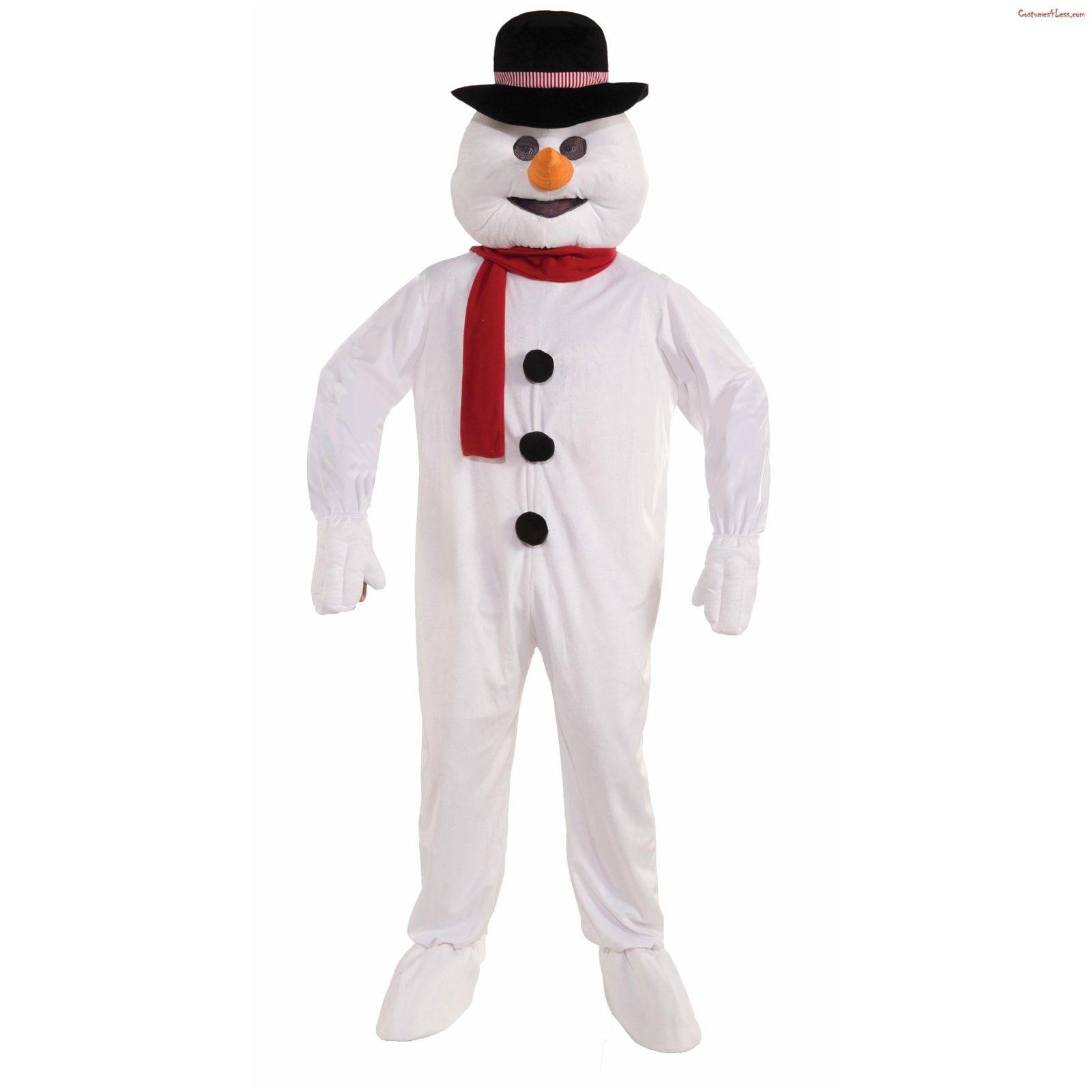 Snowman Adult Costume Olaf Halloween Christmas Winter Xmas Frozen Mens Snow