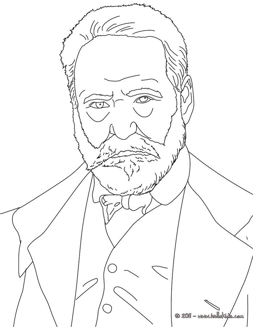 victor hugo coloring page french pinterest victor hugo