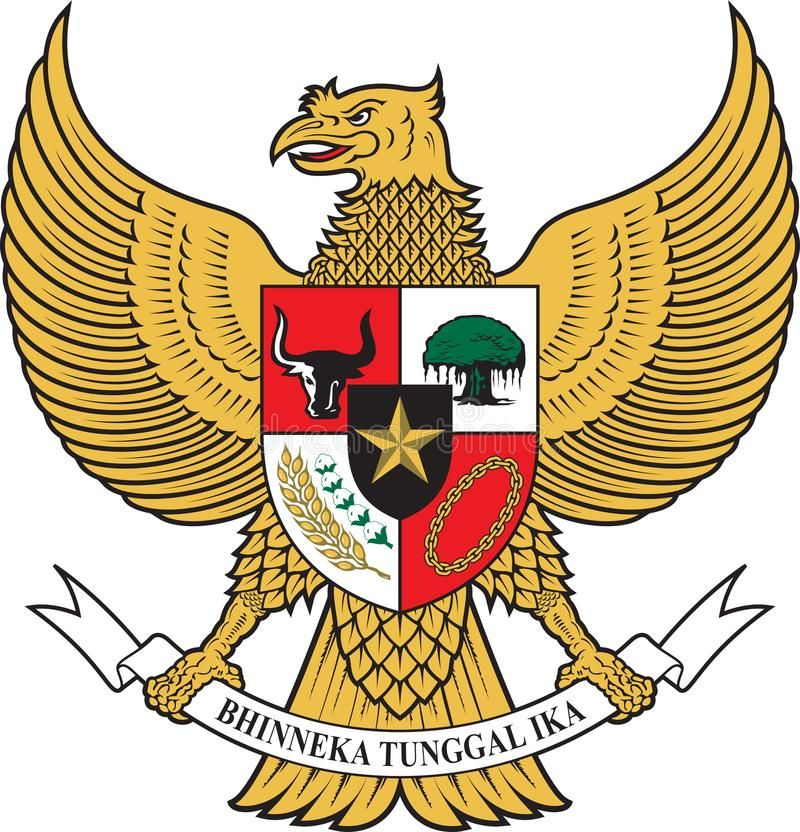 Illustration About Garuda Pancasila The National Emblem Of Indonesia Merdeka Bhinneka Tunggal Ika Illustration Of Ea Vector Logo Illustration Indonesian Art