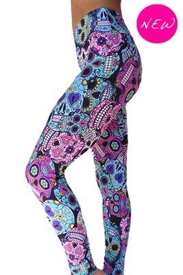 841fe2943c6d7 Skull yoga leggings. Want. | Stuffff | Skull leggings, Affordable ...