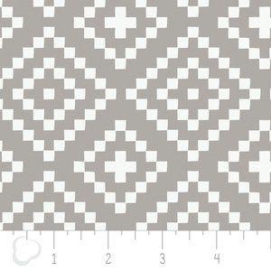 Camelot Cottons House Designer - Nordic - Lozenges in Zinc