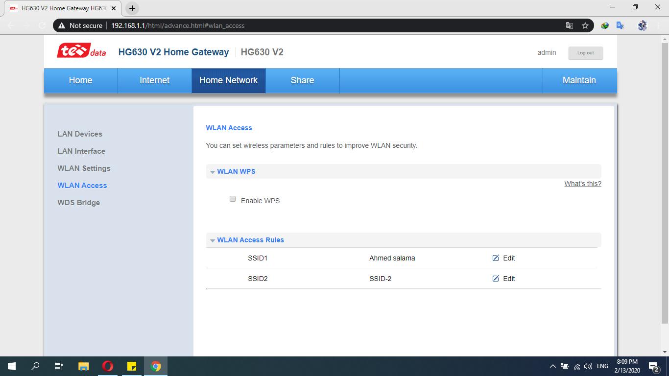 شرح عمل ماك فلتر لراوتر Hg630 V2 Screenshots Desktop Screenshot