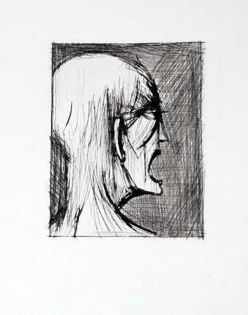 Bernard Buffet, l enfer de dante danne ricanant -1977 on ArtStack #bernard-buffet #art