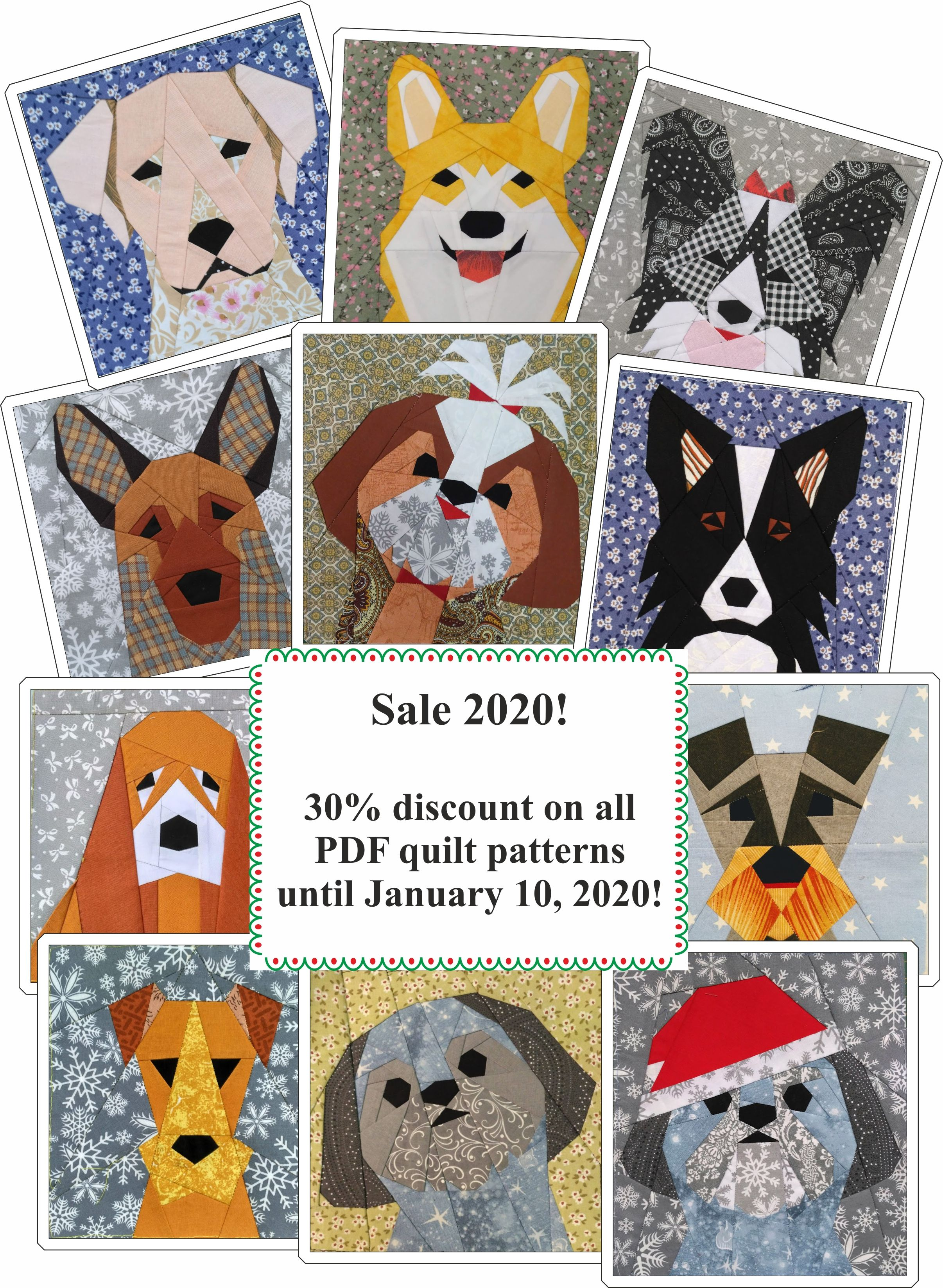 Sale 2020! in 2020 Quilt patterns, Dog quilts, Pdf quilt