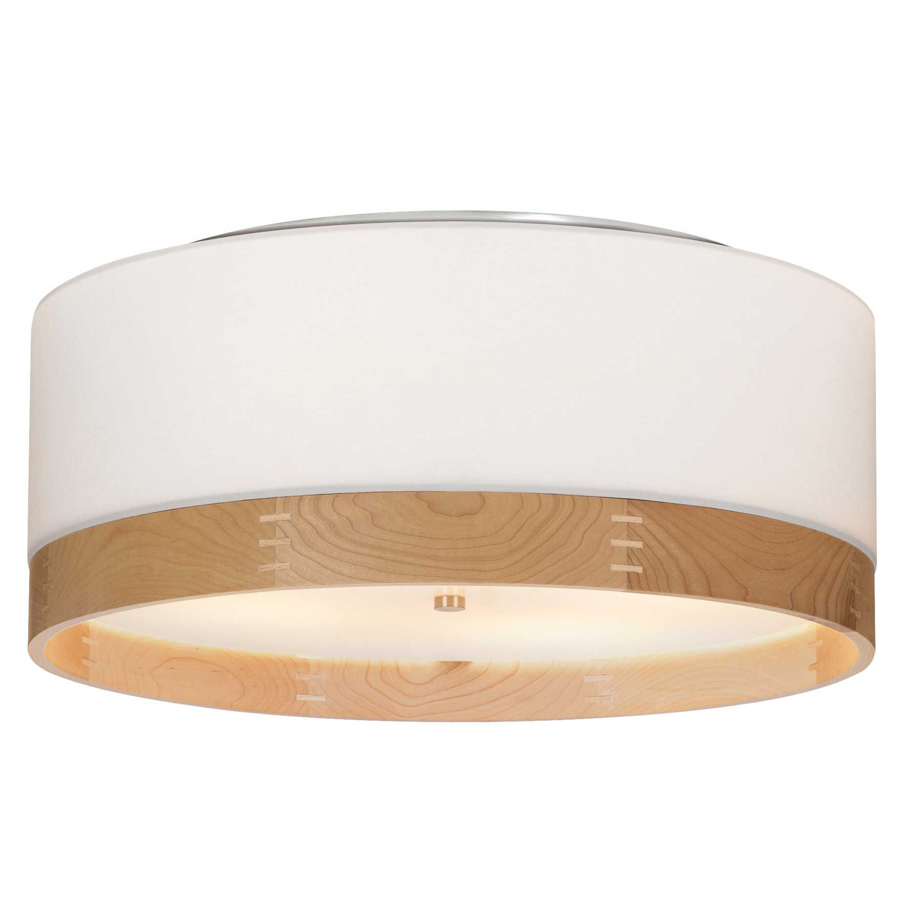 Topo Flush Mount Ceiling Light features a modern drum