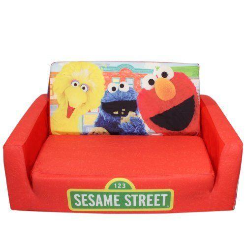 Marshmallow Fun Furniture Flip Open Sofa With Slumber   Sesame Street By  Marshmallow Fun Furniture,
