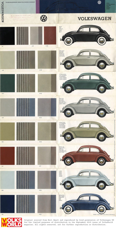 Vw Classic, Volkswagen Beetles, Volkswagen Bus, Vw Cars, Colour Chart,  Roadster