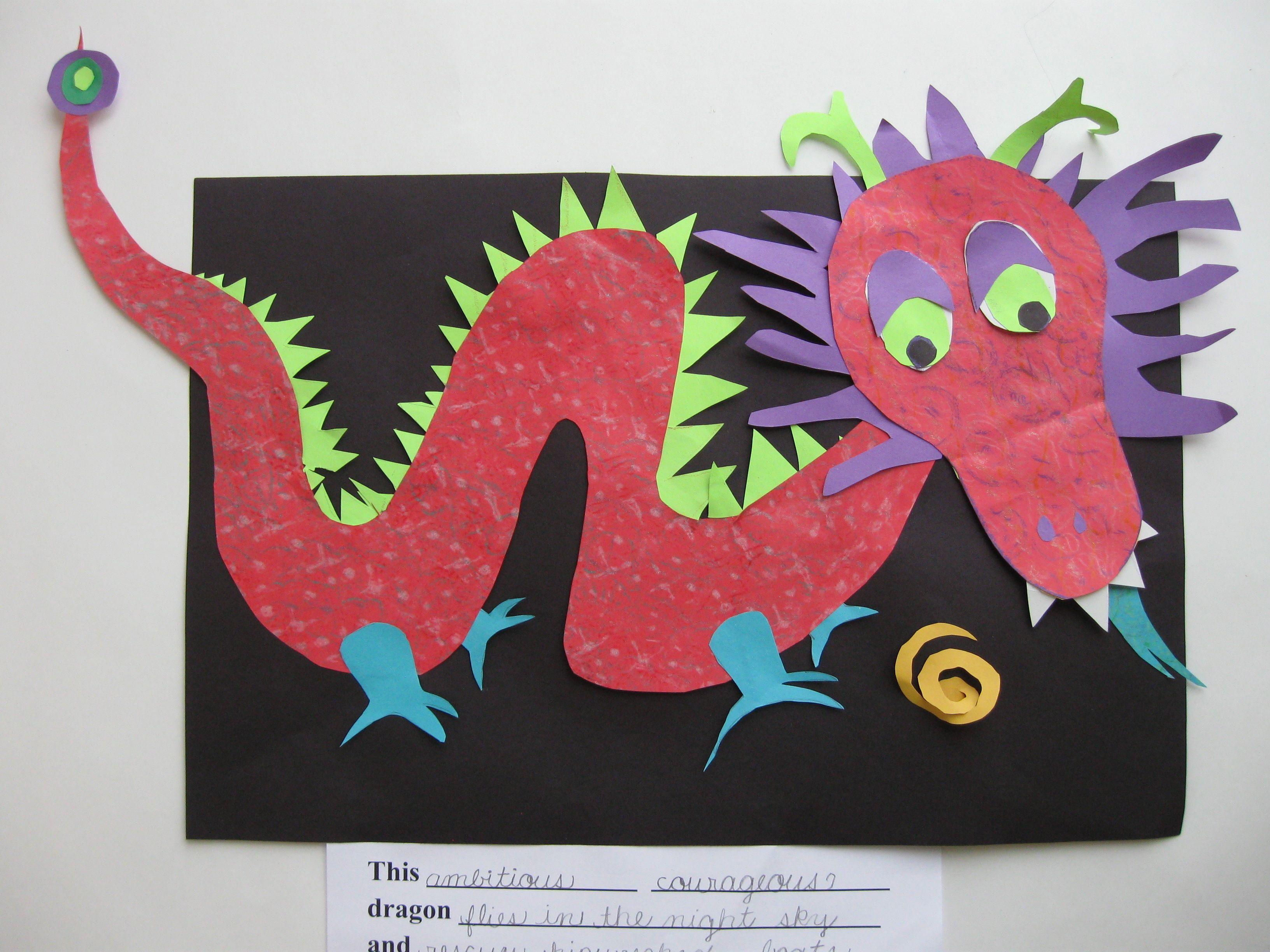 Картинка аппликация дракон