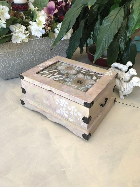 Shabby Chic Jewelry Box Upcycled Vintage Jewelry Chest Photo