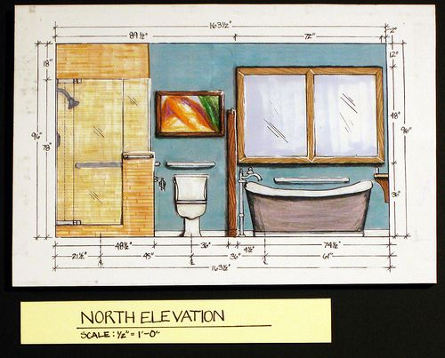 Bath elevations google search interior design for Window design elevation