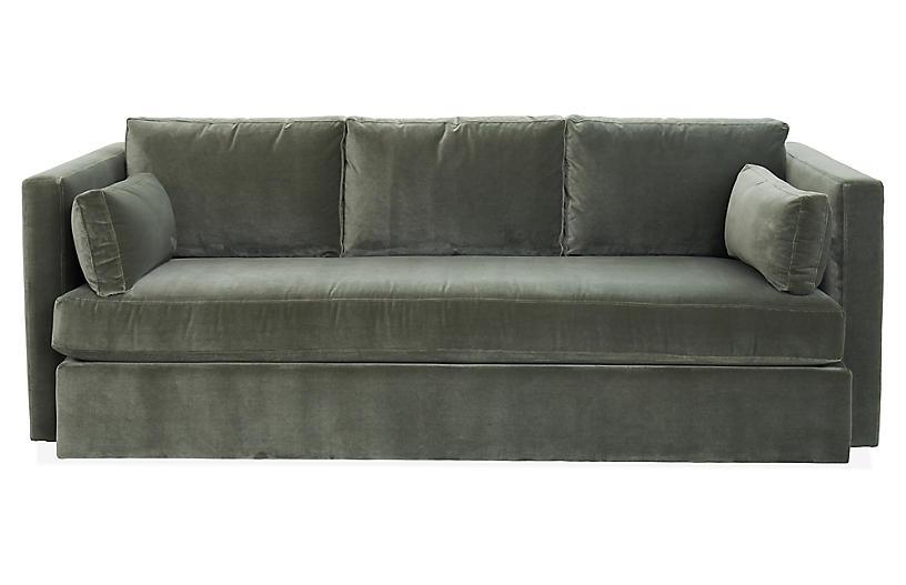 Rosalyn Sofa Juniper Velvet Sofa Furniture Velvet Tufted Sofa