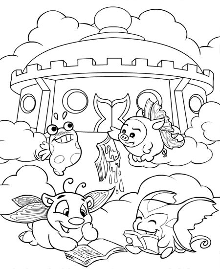 24 coloring pages of Neopets Faerieland on Kids-n-Fun.co.uk. On Kids ...