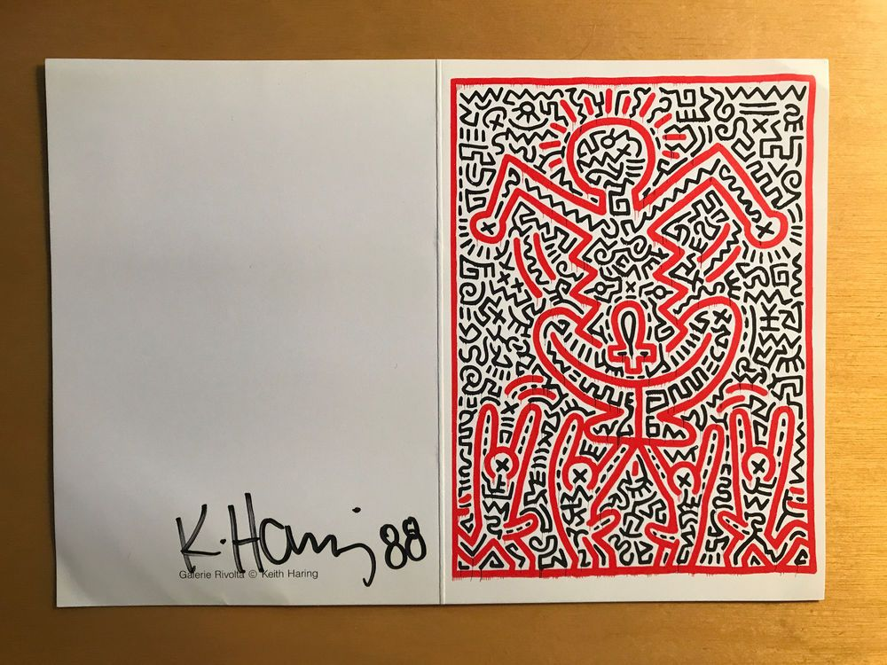 Keith Haring Signed Postcard 1988 #PopArt