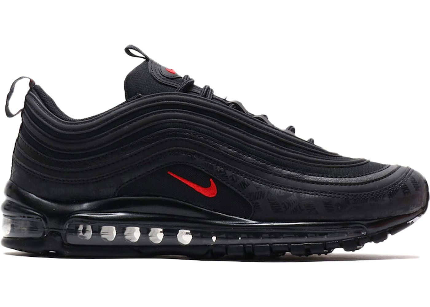 Nike Air Max 97 All Over Print Black Red In 2020 Nike Shoes Air Max Nike Air Max 97 Nike Fashion Sneakers