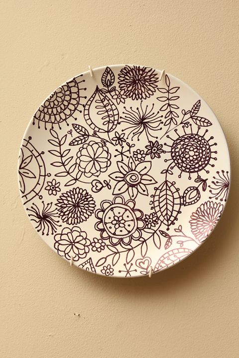 Sharpie Drawing on a White Plate - bake in 350 degree oven for 30 minutes and let cool - great for holiday decorating  sc 1 st  Pinterest & Sharpie Drawing on a White Plate - bake in 350 degree oven for 30 ...