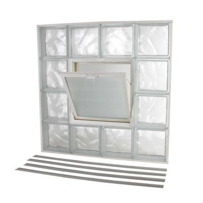 Tafco Windows 31 63 In X 31 63 In Nailup2 Wave Pattern Glass Block Window Nu2 3232 The Home Depot In 2020 Glass Block Windows Glass Blocks Glass Block Shower Wall