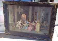 Victorian Painting The Chess Game By Francesco Beda Signed Art