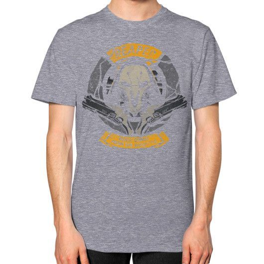 From the Shadows Unisex T-Shirt (on man)