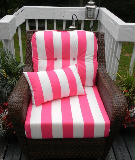 Indoor / Outdoor Deep Seating Chair Cushion Set   Seat U0026 Back   Hot Pink And