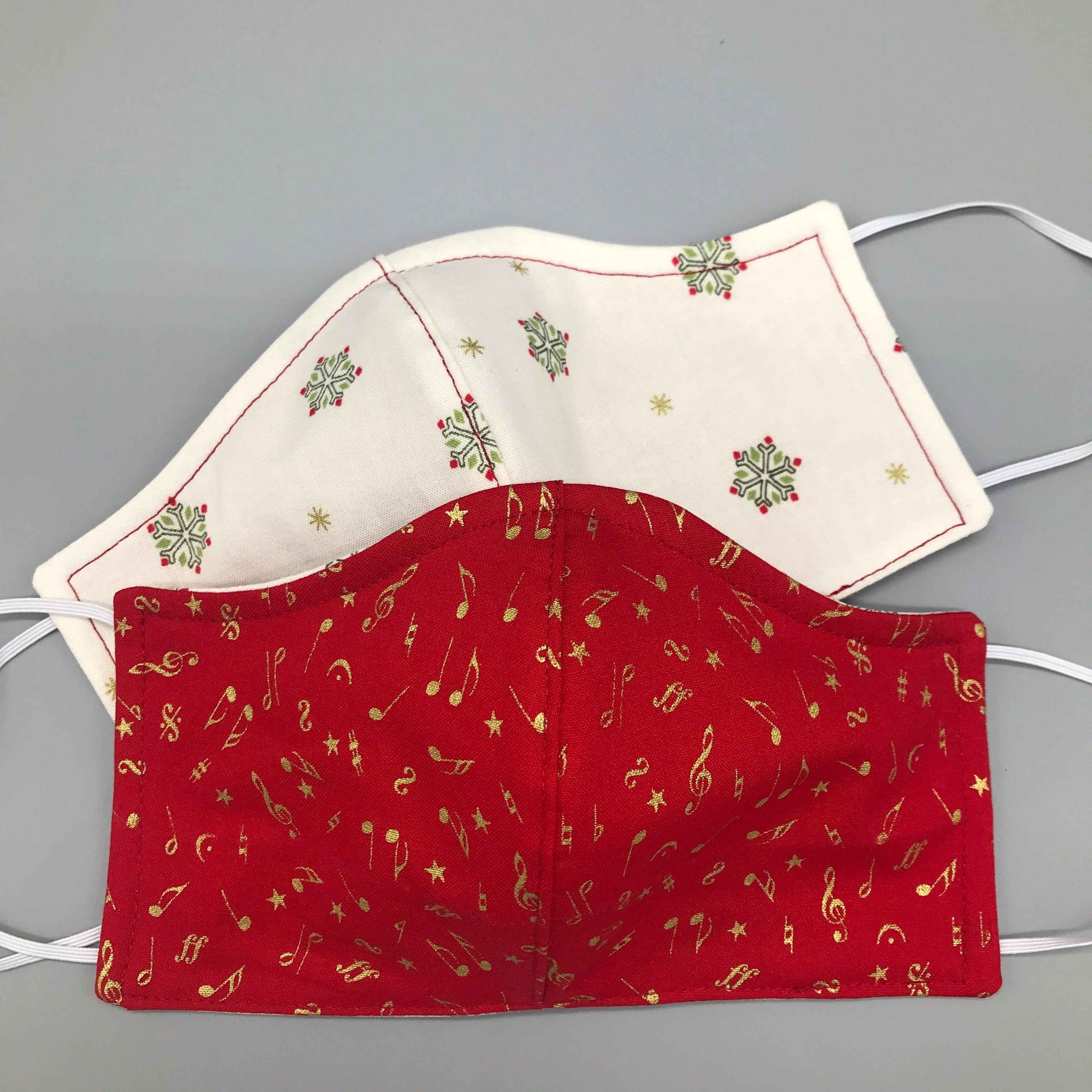 Christmas Face Mask For The Holidays Washable Reversible
